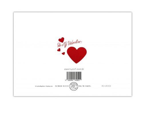 """Klappkarte """"Ich liebe dich"""" mit Briefumschlag 6St"""