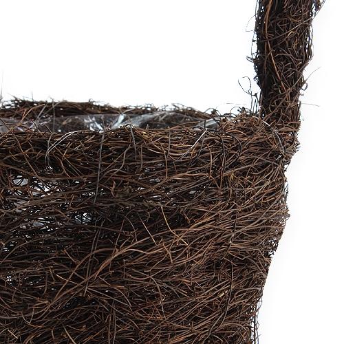 Reben-Bügelkorb Natur Ø17cm