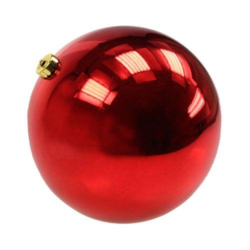 weihnachtskugel mittel kunststoff rot 20cm preiswert. Black Bedroom Furniture Sets. Home Design Ideas