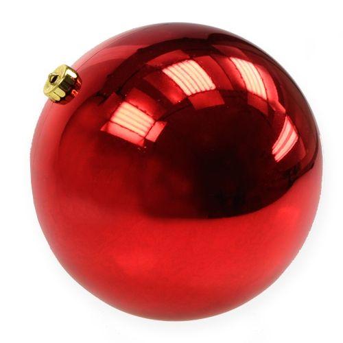 Weihnachtskugel Kunststoff groß Rot  Ø25cm