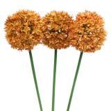 Zierlauch Allium künstlich Orange 70cm 3St