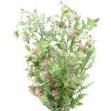 Strauß mit Gräsern und Blüten künstlich Rosa 53cm