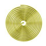 Aluminiumschnecke Gold 2mm 120cm