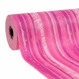 Blumenpapier 37,5cm Pink Streifen 100m