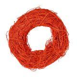 Deko-Kranz Orange aus Rattan Ø20cm