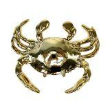 Dekofigur Krabbe 10cm Gold