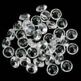 Dekosteine Diamant Acryl Klar Ø1,8cm 150g Streudeko