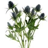 Distel künstliche Blume Blau 70cm
