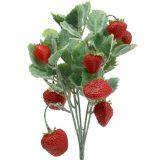 Künstliche Erdbeere als Pick Rot L30cm