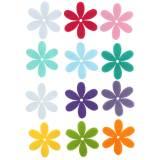 Filzblumen 4,5 cm 36 Stück verschiedene Farben Filzblüte zum streuen & kleben