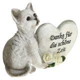 Gedenkfigur für Katzen Grau 12cm x 15cm 2St