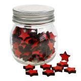 Glas mit Sternen Rot 9cm
