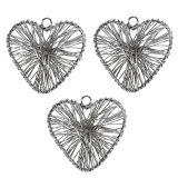Herz Silber 4,5cm zum Hängen 20St