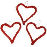 Herz offen Rot 10cm 12St