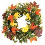 Kranz Herbstlaub künstlich Grün, Gelb, Orange Ø45cm