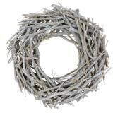 Deko Kranz aus Ästen Weiß gewaschen Ø50cm