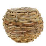 Korbkugel zum Bepflanzen Hellbraun Ø21cm