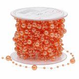 Perlenkette Orange 6mm 15m