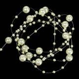 Perlenkette Champagner Ø3 - 8mm L3m