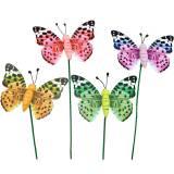 Deko-Schmetterling am Stab Blumenstecker Frühlingsdeko 16St