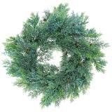 Wacholderkranz künstlich mit Zapfen und Beeren Grün 48cm