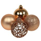 Weihnachtskugel Kupfergold Ø6cm 16St