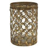 Windlicht Gold Antik Ø8cm H11,5cm 1St