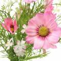 Cosmea und Schleierkraut im Bund Künstlich Rosa Sortiert 42cm