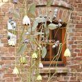 Dekohänger Metallblüten Tulpe  6cm 3St