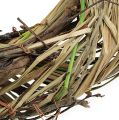 Weidenkranz mit Gras Ø25cm Natur