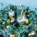 Gänseeier Golden Ausgeblasene Eier Osterdeko 12St