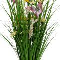 Grasbund mit Blumen 70cm Gelb