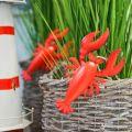 Hummer Deko-Anhänger Metall Rot 11,5x21,5cm 3St
