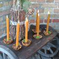 Kerzenhalter Vintage für Stabkerzen Metall Rost Look 9cm 6St