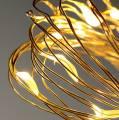 Lichterkette LED-Lichterdraht mit Batterie warm weiß 20er 2m