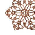 Metallblüte mit Ornament Ø5,5cm Kupfer 24St