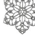 Metallblüte mit Ornament Ø6,5cm Silber 24St