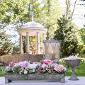 Pflanzgefäß, Deko-Dachrinne, Blumenkasten Antik-Look L51cm