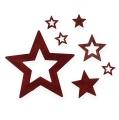 Sternesortiment zum Streuen Bordo 64St