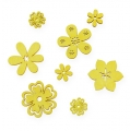 Streudeko Holzblume Gelb 2-4cm 96St