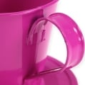 Deko-Tasse mit Teller Pink Ø9cm H8,5cm