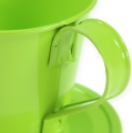 Deko-Tasse mit Teller Apfelgrün Ø9cm H8cm