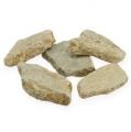 Mosaiksteine im Netz Hellbraun matt 3cm - 8cm 1kg